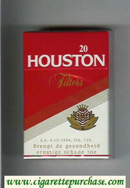 Houston Filters cigarettes hard box