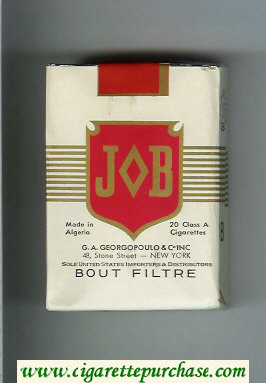 JOB Bout Filtre white and red cigarettes soft box