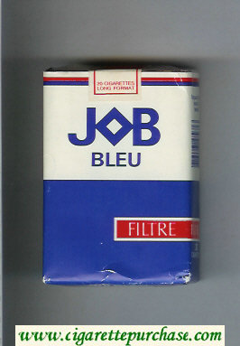 JOB Bleu Filtre white and blue and red cigarettes soft box