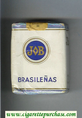 JOB Brasilenas white and blue cigarettes soft box