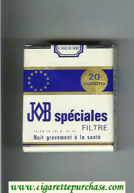 JOB Specilaes Filtre white and blue cigarettes soft box
