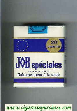 JOB Specilaes white and blue cigarettes soft box