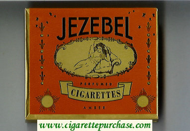 Jezebel Perfumed Cigarettes Amber wide flat hard box