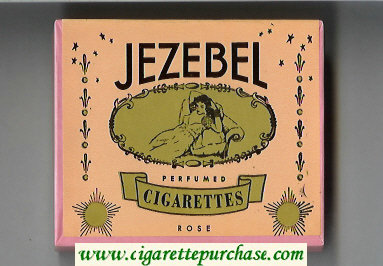 Jezebel Perfumed Cigarettes Rose wide flat hard box