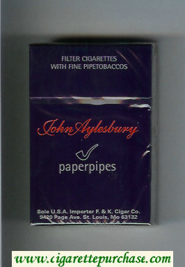 John Aylesbury Paperpipes cigarettes hard box
