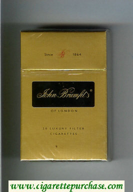 John Brumfit's of London cigarettes hard box