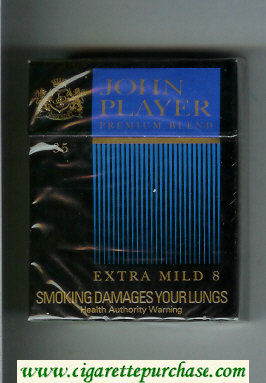 John Player Premium Blend Extra Mild 8 35s cigarettes hard box