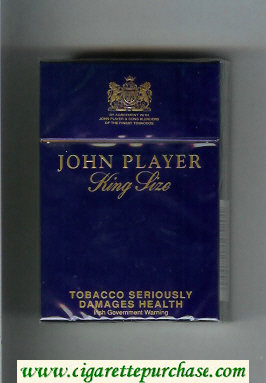 John Player King Size cigarettes hard box