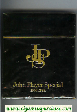 John Player Special 20 Filter 100s cigarettes wide flat hard box