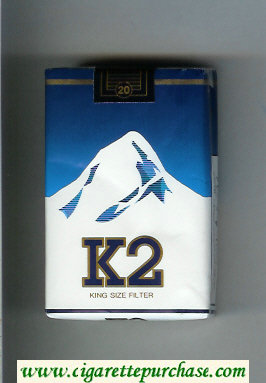 K2 King Size Filter cigarettes soft box