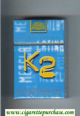 K2 Mezcla Latina cigarettes hard box