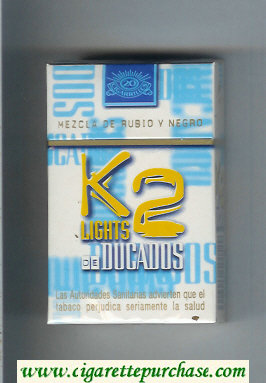 K2 De Ducados Lights cigarettes hard box