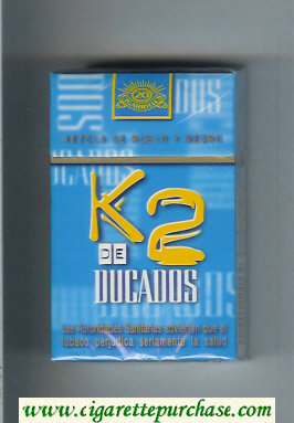 K2 De Ducados cigarettes hard box