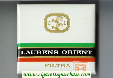 Laurens Orient Filtra Cigarettes wide flat hard box