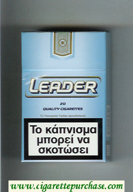 Leader light and blue Cigarettes hard box