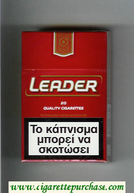 Leader red Cigarettes hard box