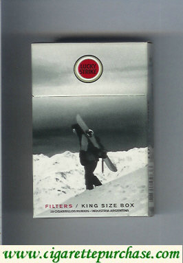Lucky Strike cigarettes Snowpacks hard box