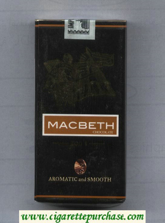 Macbeth chocolate cigarettes soft box
