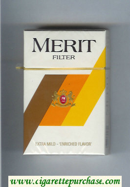 Merit Filter cigarettes hard box