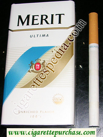 Merit Ultima 100s cigarettes hard box