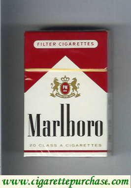 Discount Marlboro red and white filter cigarettes hard box
