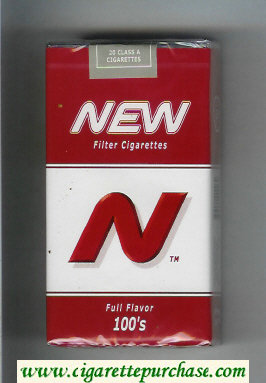 N New Full Flavor 100s cigarettes soft box