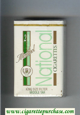 National Menthol cigarettes soft box