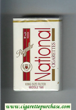 National Regular cigarettes soft box