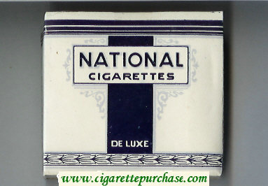 National Cigarettes Du Luxe cigarettes wide flat hard box