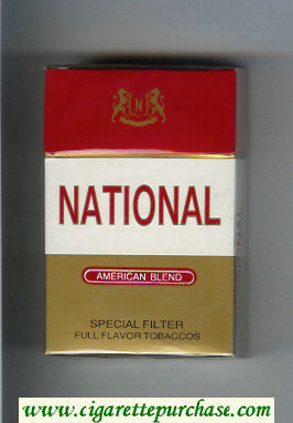 National American Blend Special Filter Full Flavor Tobaccos cigarettes hard box