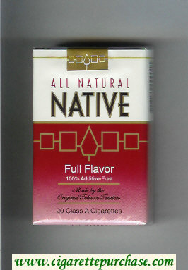 Native All Natural Full Flavor 100 percent Additive-Free cigarettes soft box