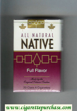 Native All Natural Full Flavor cigarettes soft box