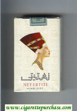 Nefertiti white cigarettes soft box