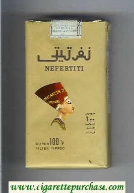 Nefertiti 100s brown cigarettes soft box