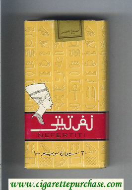 Nefertiti 100s yellow and red cigarettes soft box