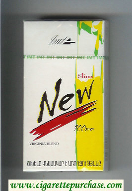 New Slims 100s Virginia Blend cigarettes hard box