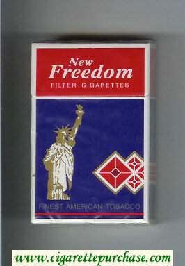 New Freedom Filter cigarettes hard box