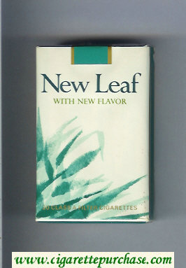 New Leaf With New Flavor cigarettes soft box
