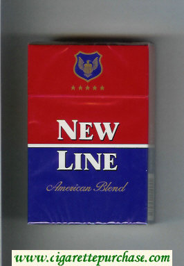 New Line American Blend cigarettes hard box