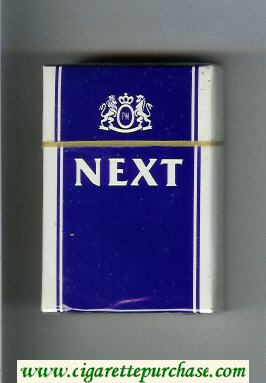 Next blue and white cigarettes hard box