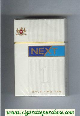 Next white and blue cigarettes hard box