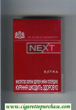 Next Extra red cigarettes hard box
