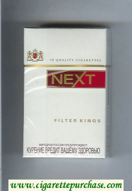 Next Filter Kings white and red cigarettes hard box
