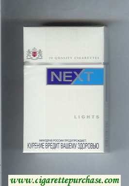 Next Lights white and blue cigarettes hard box