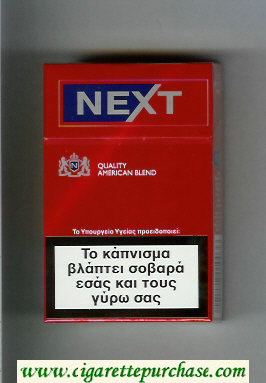 Next Quality American Blend Full Flavor red and blue cigarettes hard box