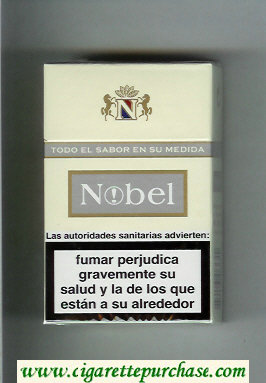 Nobel white and grey cigarettes hard box