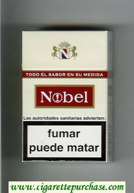Nobel white and red cigarettes hard box