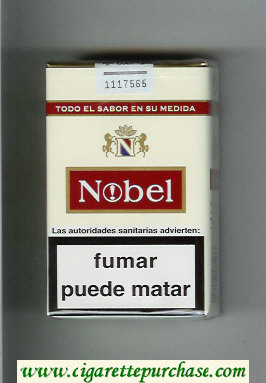 Nobel white and red cigarettes soft box