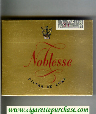 Noblesse 25 Filter De Luxe cigarettes wide flat hard box