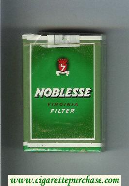 Noblesse Virginia Filter green cigarettes soft box